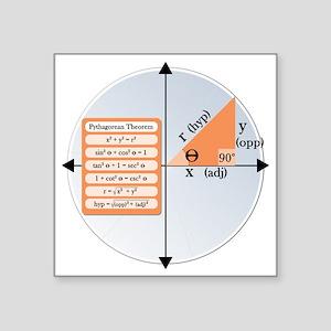 """Pythagorean Theorem Square Sticker 3"""" x 3"""""""