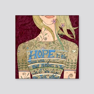 "Song of Hope Square Sticker 3"" x 3"""