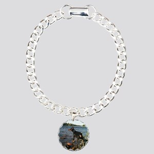 Storm at the River Charm Bracelet, One Charm
