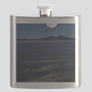 Moonrise over sea Flask