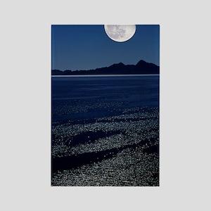 Moonrise over sea Rectangle Magnet