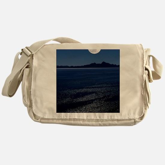 Moonrise over sea Messenger Bag