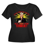 Anti-Hillary Free Speech? Wmns Plus Sz Scoop Tee