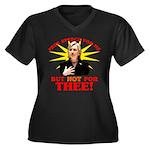 Anti-Hillary Free Speech? Wmns Plus Sz V-Nk Dk Tee