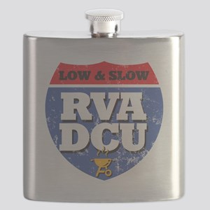 RVA DCU Low and Slow Color on Dark Flask