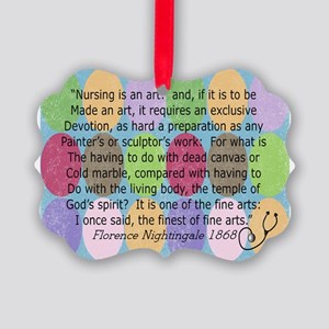 Florence Nightingale Quote Bag Picture Ornament