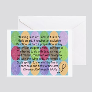 Florence Nightingale Quote Bag Greeting Card