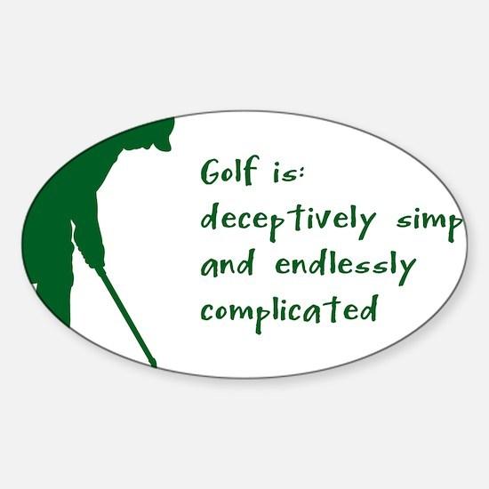 Golf Sticker (Oval)
