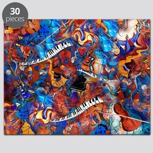 Piano Guitar Saxophone Music Madness Puzzle