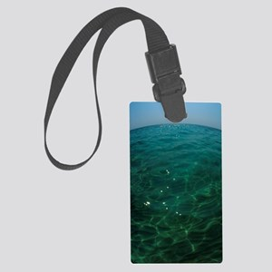 Moon over water Large Luggage Tag