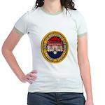 USS NEWPORT NEWS Jr. Ringer T-Shirt