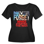 Never Forget Who Wmns Plus Sz Scoop Neck T