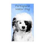 Portuguese Water Dog Sticker (Rectangle 50 pk)