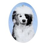 Portuguese Water Dog Oval Ornament
