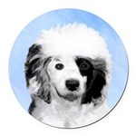 Portuguese Water Dog Round Car Magnet