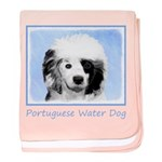 Portuguese Water Dog baby blanket