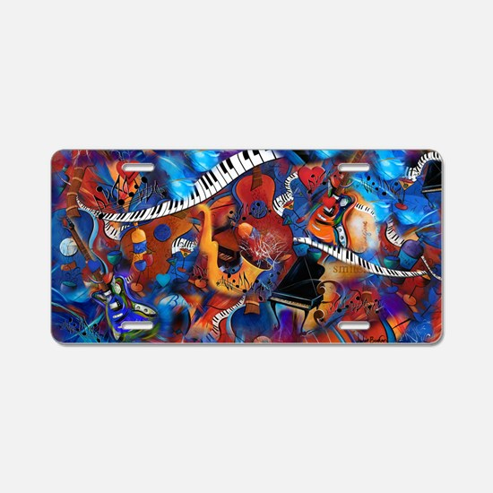 Guitar Jazz Music Magic Aluminum License Plate