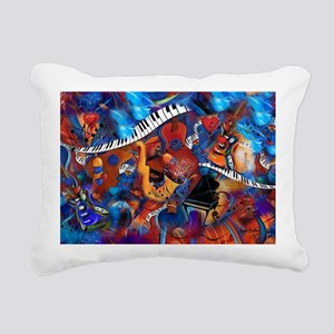 Guitar Jazz Music Magic Rectangular Canvas Pillow