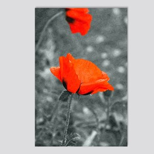 Red Poppy Postcards (Package of 8)