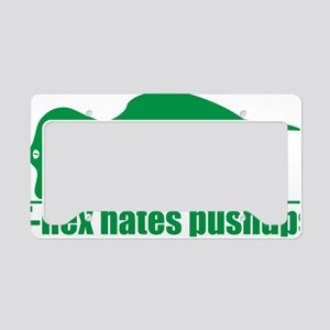 T-Rex Hates Pushups, Funny Di License Plate Holder
