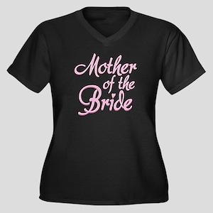 Amore Mother Bride Pink Women's Plus Size V-Neck T
