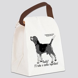 beagle nosework nathan  Canvas Lunch Bag