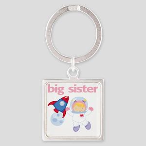 Astronaut Big Sister Square Keychain