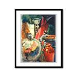 Still Life w/Bottle by Elsie Framed Panel Print