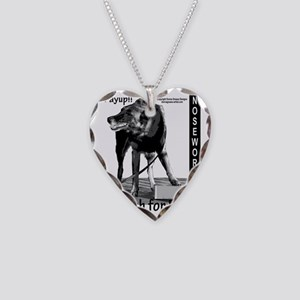 Nosework search for birch Mal Necklace Heart Charm