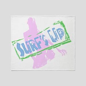 Surfs Up Throw Blanket
