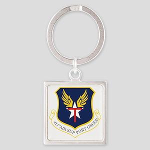 417th ASG TXSG Square Keychain
