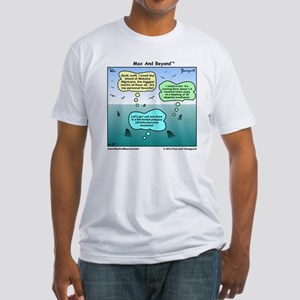 Sharks and Marlin Cartoon Fitted T-Shirt