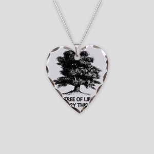 Tree of Liberty Necklace Heart Charm