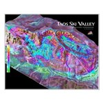 Taos Ski Valley 3d Ski Map Small Poster