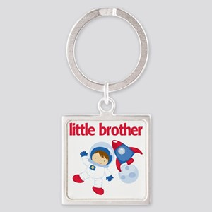 Astronaut Little Brother Square Keychain
