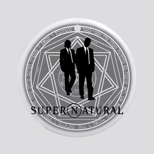 Supernatural Files Round Ornament