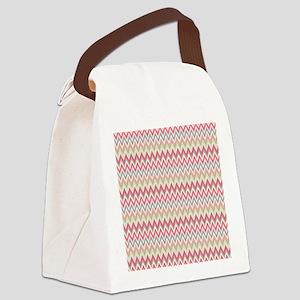 chevron Curtains 60 x 60 Canvas Lunch Bag