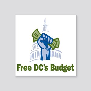 "DC Budget Freedom Square Sticker 3"" x 3"""