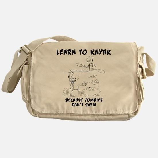 Zombie vs. Kayaker Messenger Bag