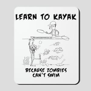 Zombie vs. Kayaker Mousepad