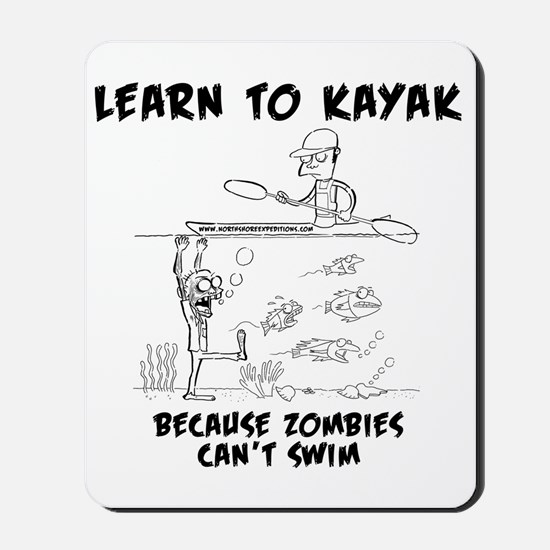 Zombie vs. Kayaker Mousepad