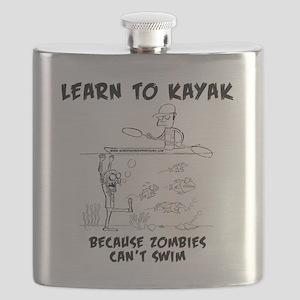Zombie vs. Kayaker Flask