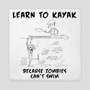 Zombie vs. Kayaker Queen Duvet