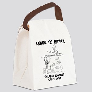 Zombie vs. Kayaker Canvas Lunch Bag