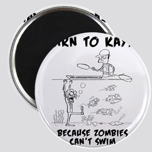 Zombie vs. Kayaker Magnet