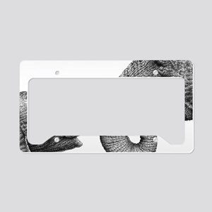 African Elephants Pillow Case License Plate Holder