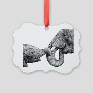 African Elephants Pillow Case Picture Ornament