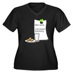 Dear Santa Women's Plus Size V-Neck Dark T-Shirt