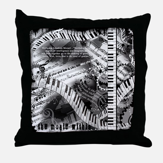 Piano Music Quotes Throw Pillow