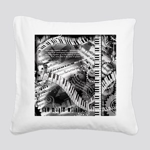 Piano Music Quotes Square Canvas Pillow